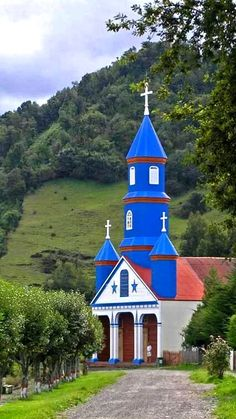 Church- The Wooden Churches of Chiloe Island, Chile, photo by Gunga Jim Downs - Bing Images Old Country Churches, Old Churches, Church Pictures, Take Me To Church, Church Architecture, Wooden Architecture, Cathedral Church, Church Building, Christian Church