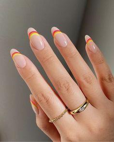 Summer Acrylic Nails, Best Acrylic Nails, Acrylic Nail Designs, Summer Nails, Fun Nail Designs, Different Nail Designs, Colorful Nail Designs, Simple Designs, Nagellack Design
