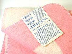 Vintage Esmond Mills Crib Blanket by OldGreenCanoe on Etsy, $17.00