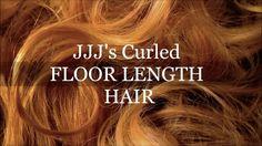 JJJ's curled floor length hair