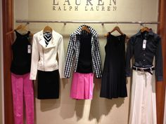 Lauren wardrobe coordinates in black and white with a touch of pink ~ great travel wardrobe!