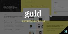 Gold - Onepage Personal Portfolio Site Templates / Personal by scrils