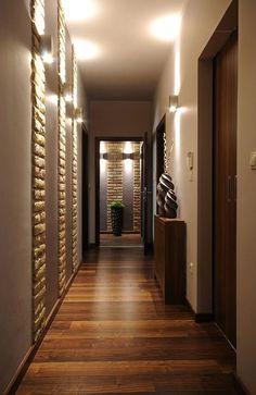 New Narrow Hallway Lighting Interiors 65 Ideas Modern Hallway, Entry Hallway, Entrance Hall, Contemporary Hallway, Hallway Paint, Narrow Entryway, Dark Hallway, Modern Stairs, Contemporary Design