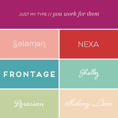 6 fonts from You Work For Them || Elembee.com