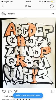 Grafitti Letters, Graffiti Lettering Alphabet, Graffiti Alphabet Styles, Graffiti Text, Graffiti Doodles, Graffiti Wall Art, Graffiti Drawing, Graffiti Styles, Street Art Graffiti