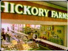 I remember when Hickory Farms used to have a full store at the mall. Now they just show up at a kiosk at Christmas time. Mmmm that smoky, cheesy smell!