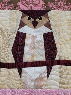 paperpieced owl from the book Go Wild with Quilts