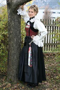 Hello all, Today I will do a costume tour of Tyrol, or Tirol. This famous region in the Austrian Alps has a distinct costume tradi. Folk Costume, Costumes, Austria, German Oktoberfest, Beer Girl, German Women, Folk Fashion, Blonde Women, Traditional Dresses