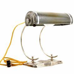 Vintage Art Deco Desk Lamp in Silver Metal Vintage Office Decor, Vintage Home Offices, Retro Home Decor, Mood Light, Light Bulb, Gazebo Lighting, Art Deco Desk, Silver Metal, Art Deco Fashion