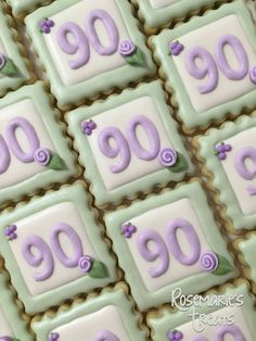 80th Birthday Cookies For Sweet Burdette Party
