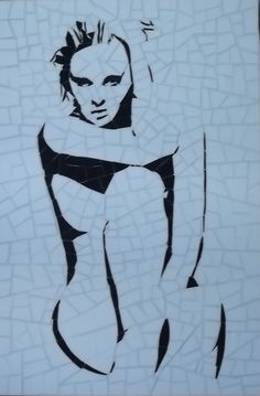 Mosaic figurative silhouette. Jezebel-SOLD