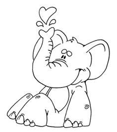 MIJN STEMPELS TEMPLATES Elephant Coloring Page 2Coloring Pages For KidsColoring SheetsColoring