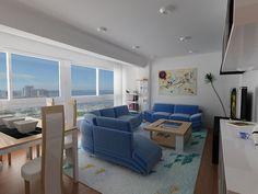 Diseño, modelado y renderizado en VRay de una sala de estar.