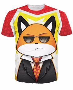 Funny Serious Sunglasses Crisp Fox Black Suit Hip Hop T-Shirt #Funny #Serious #Sunglasses #Crisp #Fox #Black #Suit #HipHop #Tshirt
