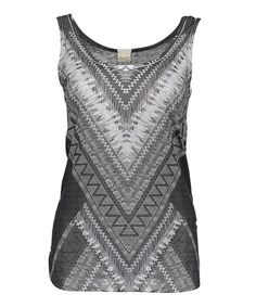 Another great find on #zulily! Gray & White Geometric Tank by Barcode Apparel #zulilyfinds
