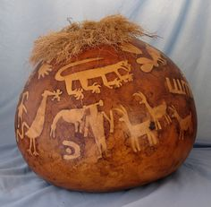 768a Petroglyphs by Arizona Gardener, via Flickr.  Arizona abounds in petroglyhs, the inspiration for this gourd
