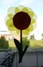 Bastelideen/basteln-Blumen-Sonnenblume-gelb