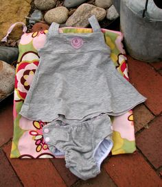 Custom cloth diaper swim suit Pink and Gray toddler by Kellylulu, $20.00