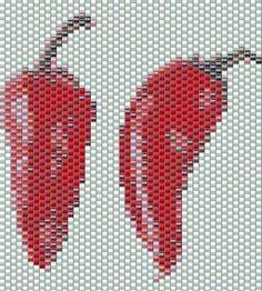 Chilli Peppers Beadchart (mine) using  Beadtool 4