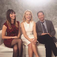 Gillian Anderson and David Duchovny #TheXFiles #foxtca #tca16
