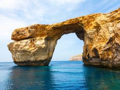 Snap a photo at the Azure Window, a natural Limestone arch on the Maltese island of Gozo. Real Life Games, Game Of Thrones, World Days, Places In Europe, Dubrovnik, European Travel, Landscape Photographers, Malta, Where To Go