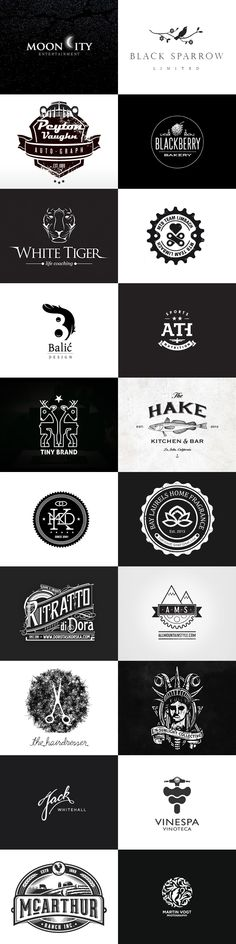 Logo-Inspiration: Black & White