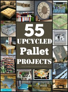 Pallet Designs DIY Pallet Projects: 55 Incredible Ways To Reuse Pallets for Decor and Furniture and Everything Inbetween Pallet Crates, Wooden Pallets, Pallet Wood, Pallet Furniture, Furniture Projects, Furniture Decor, Pallet Home Decor, Reupholster Furniture, Vintage Furniture