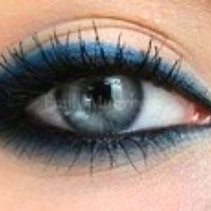 pretty make-up for blue eyes