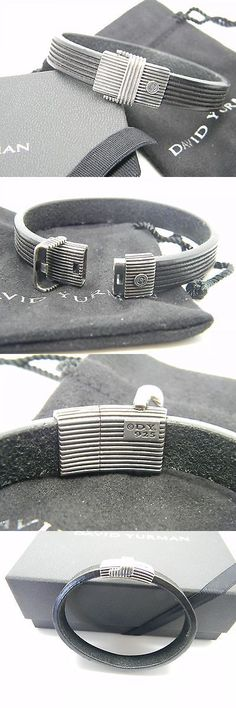 Bracelets 137835: David Yurman Mens Sterling Silver Clasp Royal Cord Leather Bracelet 7.5 BUY IT NOW ONLY: $325.0