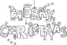 christmas line drawing - Google Search