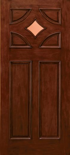 6 Lite Craftsman Mahogany Wood Entry Door W Sidelights 3 Lite