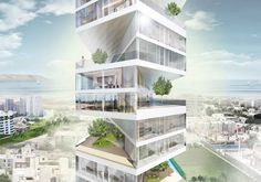 Writhing Tower, designed by LYCS Architecture