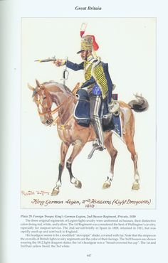 Great Britain: Plate 29. Foreign Troops King's German Legion, 2nd Hussar Regiment, Private, 1810