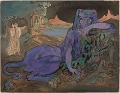 Blue Cat by Pamela Colman Smith, 1907