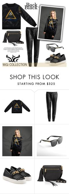 """WiGi Atlantean Luxury Sweatshirt/Black"" by helenevlacho ❤ liked on Polyvore featuring Paige Denim, Giuseppe Zanotti, Rebecca Minkoff, women's clothing, women's fashion, women, female, woman, misses and juniors"
