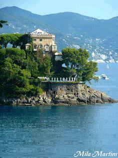 Dolce & Gabbana's Villa Olivetta in Portofino. - Italy