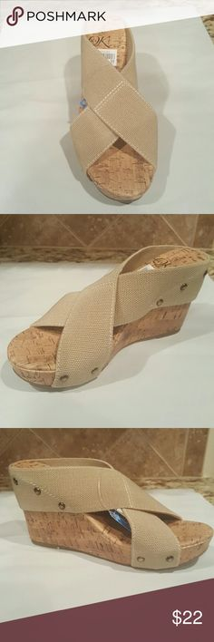 Women Wedge Natural Shoes Wedges
