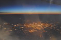 This is the birdview on Frankfurt, Germanz from a plane