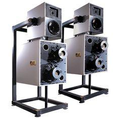Goldmund Speakers – m(d)p – Audioroom Horn Speakers, Diy Speakers, Built In Speakers, Audiophile Speakers, Hifi Audio, Audio Design, Speaker Design, Fi Car Audio, Drones
