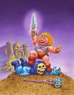 Super Punch: He-Man and Skeletor, Garbage Pail Kid-style