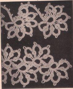 Half Flower Tatting Pattern