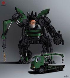 World Leaders Cast as Transformers by Gunduz Aghayev
