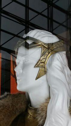 Wonder Woman movie Hippolyta armor detail - head piece