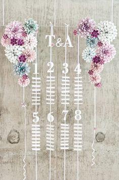 13 Creative + Pretty Escort Card Displays | PreOwned Wedding Dresses
