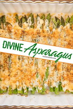 Divine Asparagus - only 4 ingredients! Asparagus mayonnaise parmesan cheese and paprika. Can add garlic salt too. Ready to eat in 20 minutes. We make this at least once a week! Our FAVORITE asparagus recipe! Vegetable Sides, Vegetable Side Dishes, Vegetable Recipes, Vegetarian Recipes, Cooking Recipes, Healthy Recipes, Mayonnaise, Vegetable Casserole, Asparagus Casserole