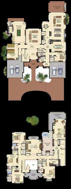 6 Bedroom Floor Plans With Basement 6 Bedroom Floor Plans With Basement, Traditional Split Bedroom Design Architectural Designs, 6 Bedroom House Plans With Basement Photos And Video, Luxury House Plans, Dream House Plans, House Floor Plans, My Dream Home, Floor Plans 2 Story, Luxury Floor Plans, Dream Homes, Casas Containers, Bedroom Floor Plans