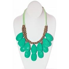 Green Teardrop Necklace perfect for zeta tau alpha socials!