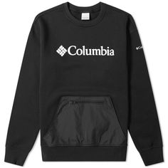 Buy the Columbia Fremont Crew Sweat in Black from leading mens fashion retailer END. - only Fast shipping on all latest Columbia products Columbia, Sport Fashion, Mens Fashion, Kangaroo Pouch, Mens Sweatshirts, Zip Hoodie, Adidas Jacket, Menswear, How To Wear