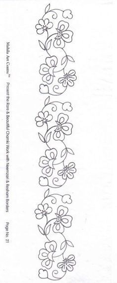 Embroidery Mexican Pattern Flowers 52 Ideas For 2019 Mexican Embroidery, Floral Embroidery Patterns, Embroidery Flowers Pattern, Simple Embroidery, Machine Embroidery Patterns, Crewel Embroidery, Hand Embroidery Designs, Ribbon Embroidery, Bordado Popular