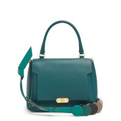 45b5484d2 Bathurst small leather shoulder bag by Anya Hindmarch. Teal-green leather  brings a note of sophistication to Anya Hindmarch's Bathurst shoulder bag.